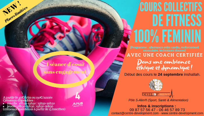 Fitness - cours collectifs 100% femmes